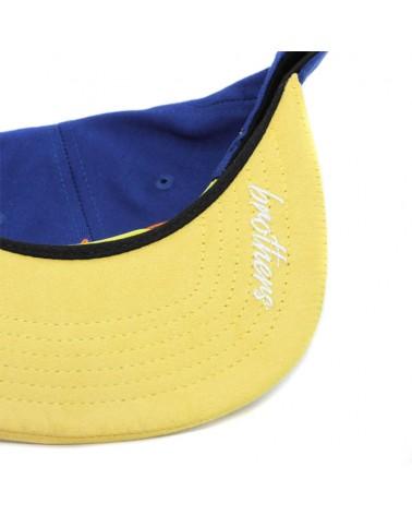 Gorra Amateur azul amarillo detalle