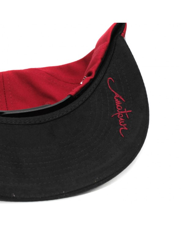 Gorra Amateur rojo negro detalle