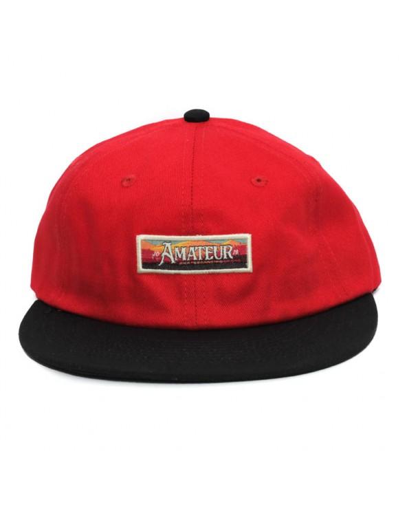 Gorra Amateur rojo negro montaña